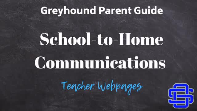 School to Home Communications-Teacher Webpages
