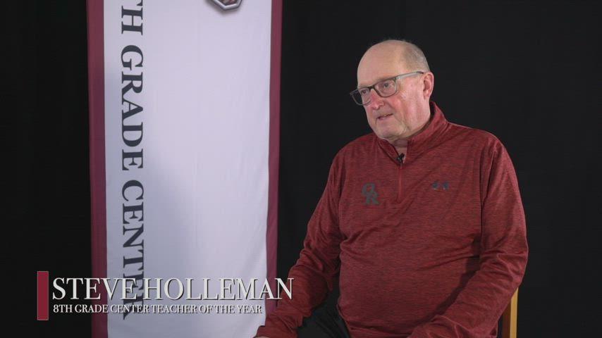 Steve Holleman - 2021 8th Grade Center Teacher of the Year