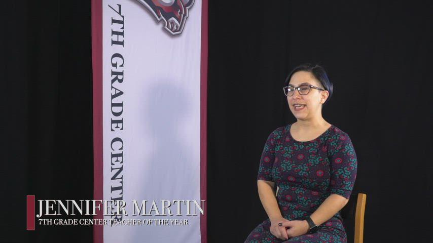 Jennifer Martin - 2021 7th Grade Center Teacher of the Year