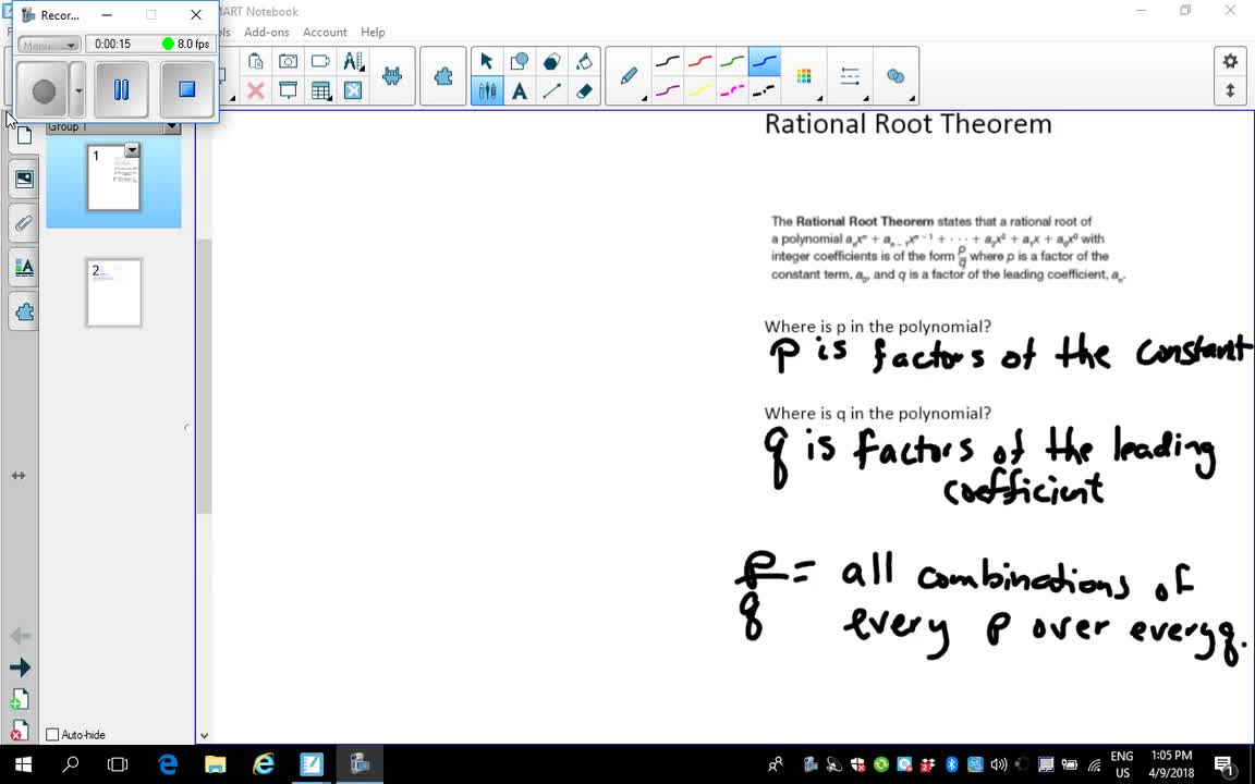 Rational Root Theorem Panorama Community Schools