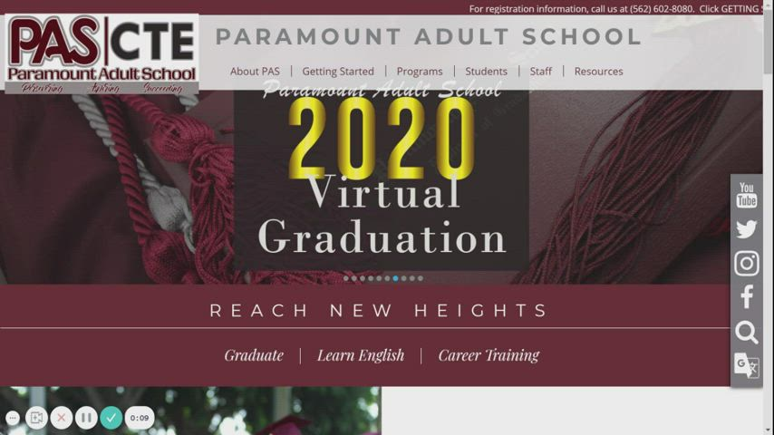 PAS Spring 2021 Registration