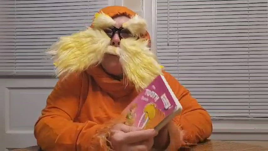 Video of PTO dressed as Dr. Seuss characters reading one of his books.