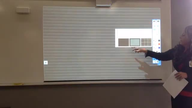 Video demonstrating how to use interactive white boards and projectors