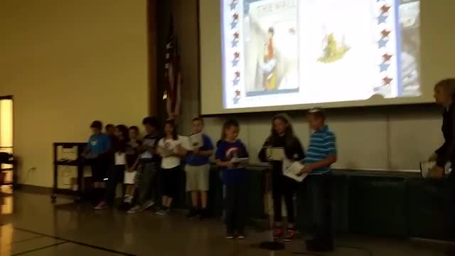 fourth grade presentation - Veteran's Day assembly