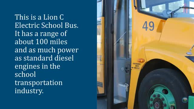 Video about electric school bus