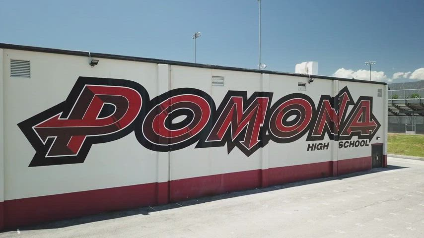 Pomona High School students & staff demonstrate the appropriate procedures when returning to campus.