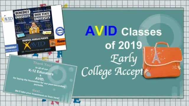 AVID Classes of 2019