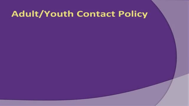 Adult Youth Contact Training