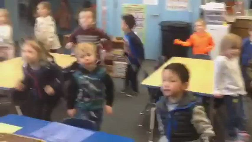 Pre-K students learning via action