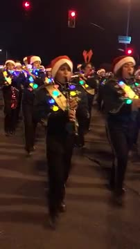 Band at 2016 Christmas Parade