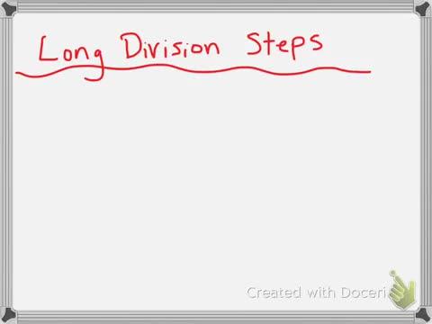 Long Division Steps