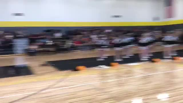 Winter Sports Pep Assembly Cheerleader Performance