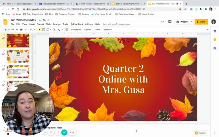Video for information about Mrs. Gusa's Quarter 2 class