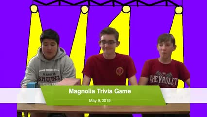 Magnolia Trivia Game, May 9