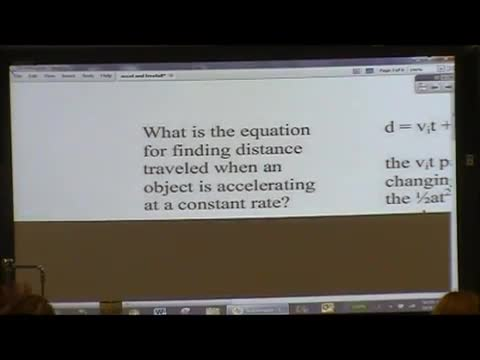 Acceleration and freefall lecture part2 | Point Loma High School