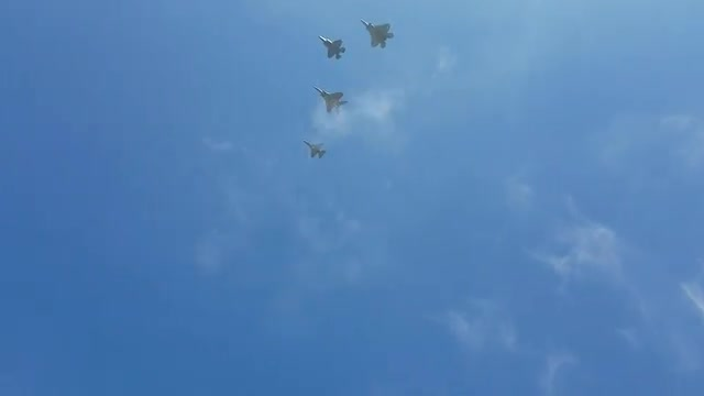 Video of Air Force planes flying over schools.