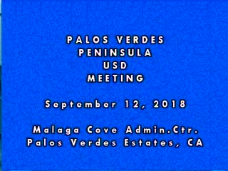 School Board Meeting Sept 12, 2018