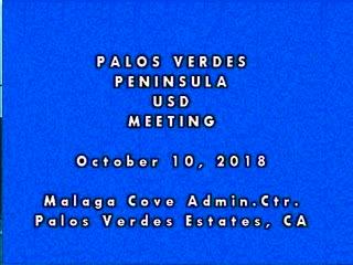 School Board Meeting - October 10, 2018
