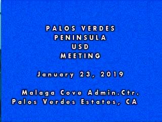 January 23, 2019 School Board Meeting