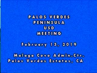 School Board Meeting, February 13, 2019