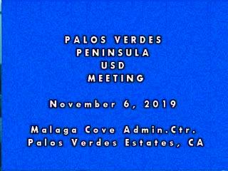 School Board Meeting - November 6, 2019