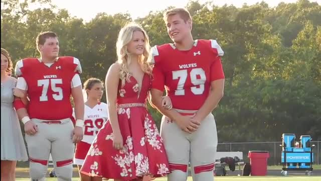 Seniors Austin Bradfield and Madelynn Kelley were crowned king and queen at homecoming.