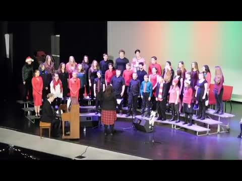 The Reeds Spring Middle School choir and bands performed in front of a packed house of friends and family.