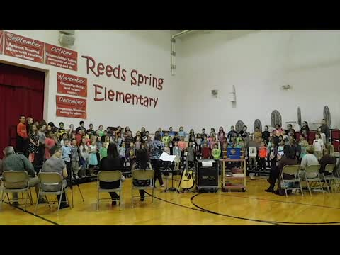 Second graders from Reeds Spring Elementary School performed