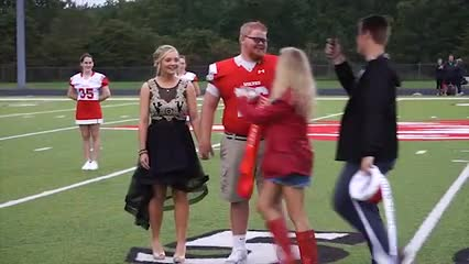 Parker Maloney was crowned Homecoming King and Kyndall Porter was crowned Homecoming Queen.