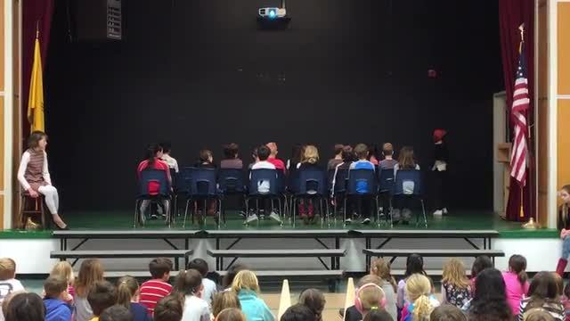 4th Graders Perform a Scene from Roald Dahl's Matilda