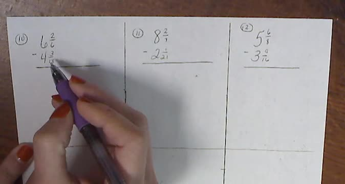 Fraction Video 4