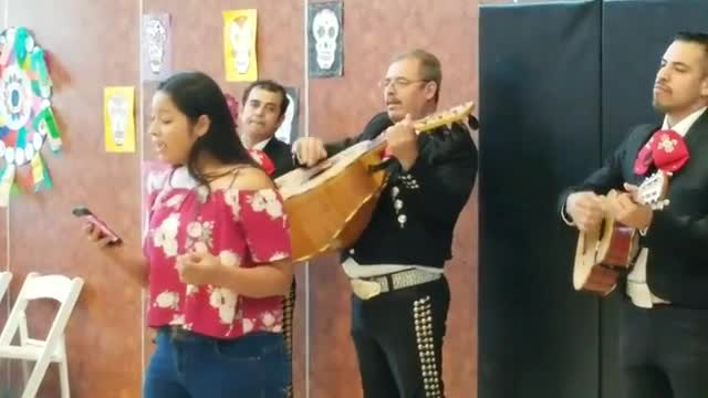 Student singing song