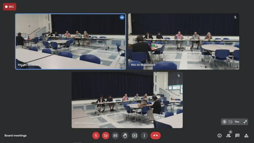 RSU 20 July 13, 2021 Regular School Board meeting