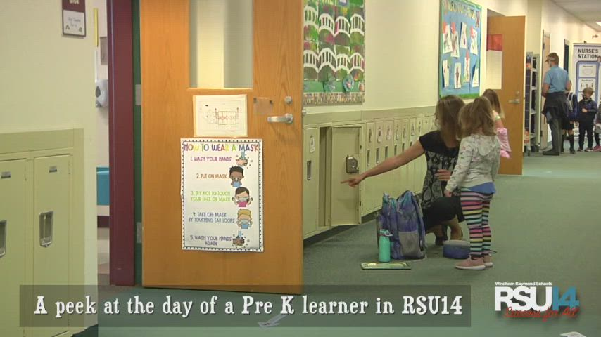 A peek into the day of an RSU14 Pre-K learner.