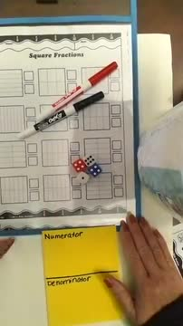 Square Fractions game
