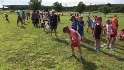 2nd graders enjoying Field Day