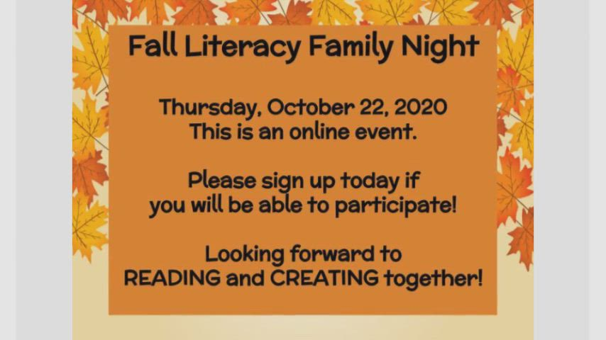 Video of Fall Literacy Night