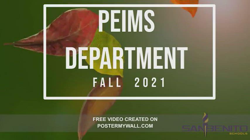 Fall 2021 PEIMS
