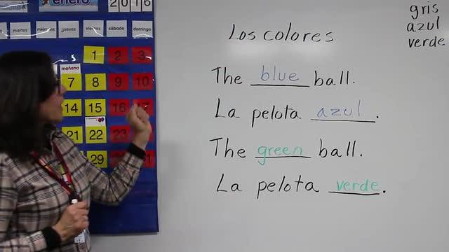 Colors with pelota (ball) #3