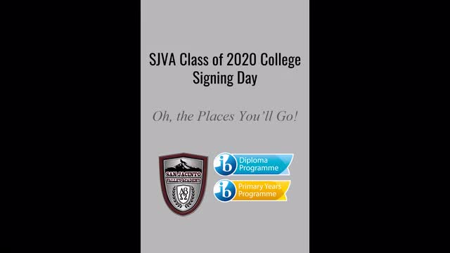 Senior College Signing Day