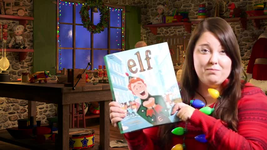 Middle School English Teacher Ms. Baer reads Elf