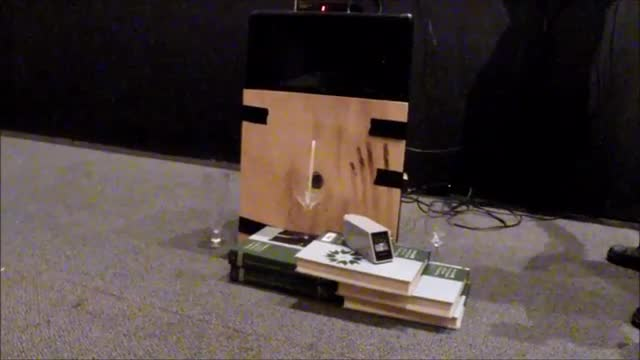 Breaking glass with sound