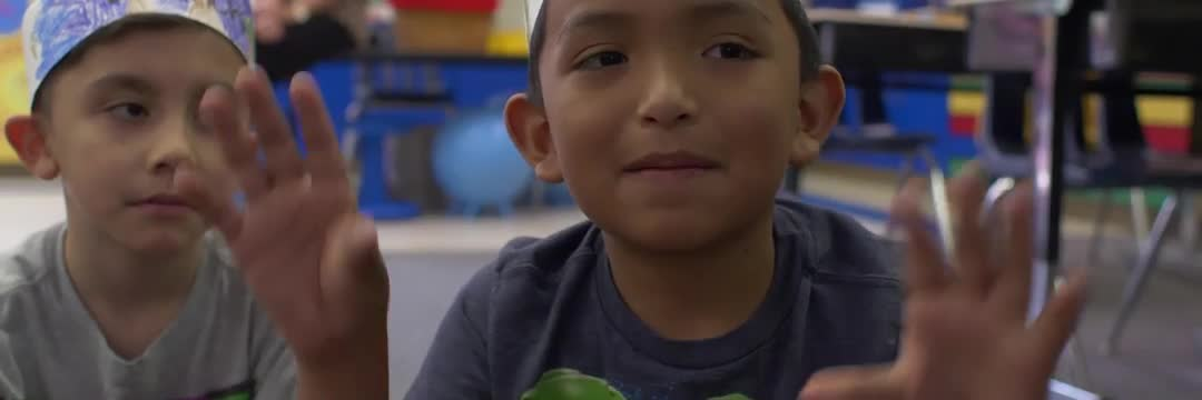 This video shows students at Woodland Heights enjoying the educational process. There are lots of smiling faces and engaged students.