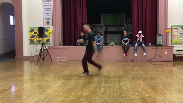 Vince Horiuchi (Hip Hop Break Dancing Teacher) Performs for the Crowd