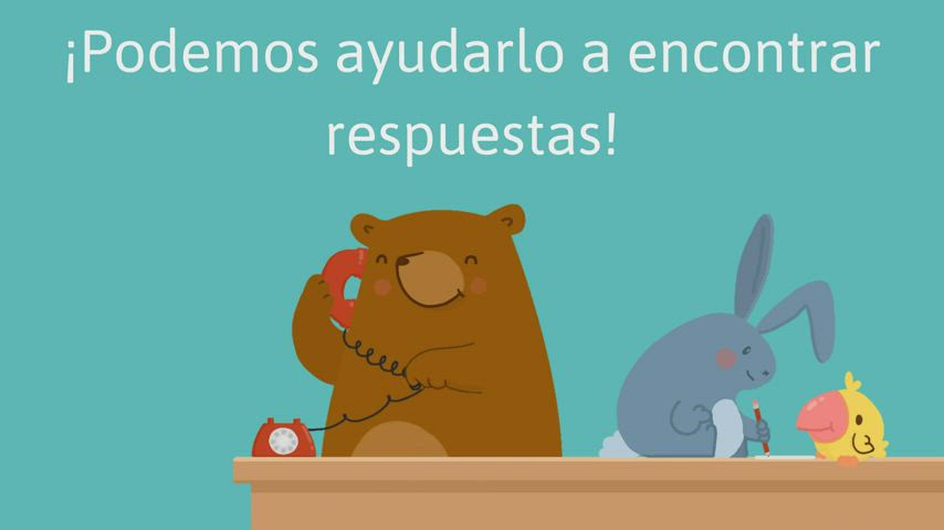 An animated video in Spanish with information on how to register for kindergarten