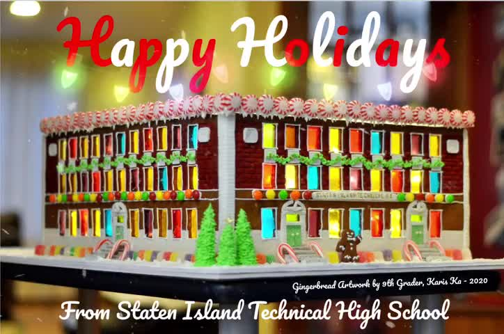 Happy Holidays Graphic 2020 with Student Credit