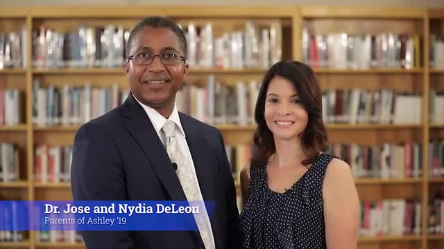 Dr. Jose and Nydia DeLeon speak about what made SCA  a special choice for Ashley '19.