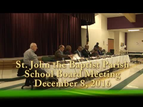 School Board Meeting 2016-12-08