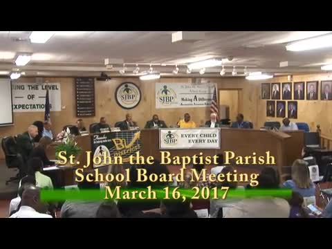 School Board Meeting 2017-03-16