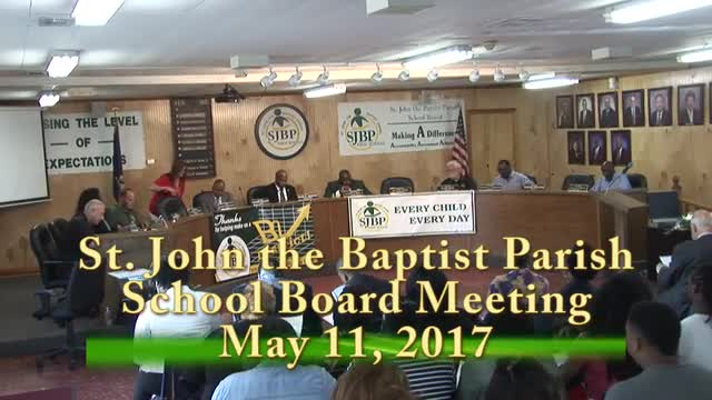 School Board Meeting 2017-05-11